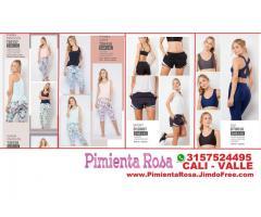 ⭐ Ropa Deportiva Mujer, Bicicleteros, Tops, Licras, Legging, Camisetas, PIMIENTA ROSA Cali, Palmira,
