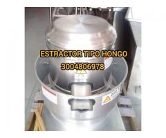 extractor tipo hongo