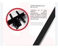 """SOPORTE BRAZO DOBLE GIRATORIO E INCLINABLE PARA T.V DE 37""""-60"""" PULGADAS"""