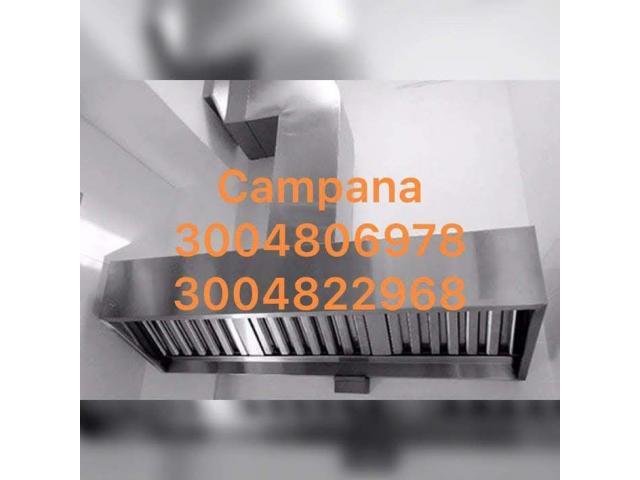CAMPANA EXTRACTORA EN ACERO - 2/2