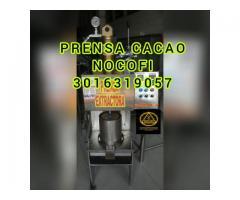 PRENSA PARA 5 KILOS DE TORTA DE CACAO