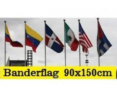 Banderas de Todos los Paises Tamaño 90x150cm Doble Faz 100% Polyester