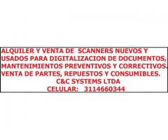 ALQUILER, VENTA Y REPARACIÓN DE ESCANERS PARA DIGITALIZACIÓN DE DOCUMENTOS