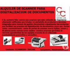 ALQUILER DE ESCANERS PARA DIGITALIZACIÓN DE DOCUMENTOS