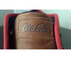 Tenis Style Leather Mid Brown - Coca Cola