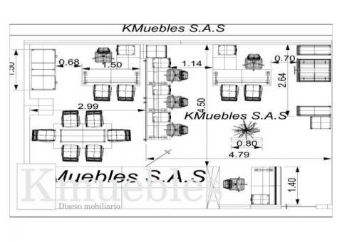 Dise amos planos para fabricacion de oficinas en bogot for Planos de oficinas