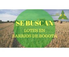 COMPRO LOTES EN BARRIOS IMPORTANTES DE BOGOTA
