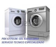 Lavadoras Cel 3103211853 pbx  6775536 Técnicos Especializados
