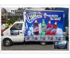 Perifoneo en Ibagué, Carro valla, Animación y Sonido, Pop Man, Exhibición de Pasacalles.