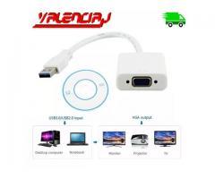 CONVERTIDOR USB 3.0 A VGA 1920 * 1080 CONECTE UN SEGUNDO MONITOR A SU COMPUTADORA
