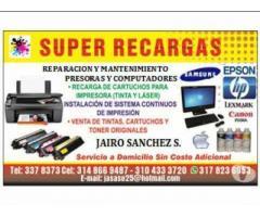 Reparación Impresoras sistema continuo