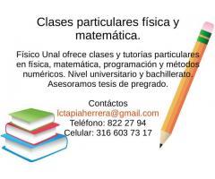 Clases a domicilio física matemática Cundinamarca